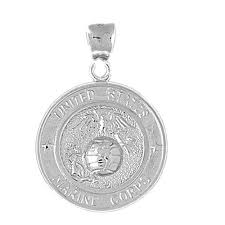 sterling silver 925 united states marine corps pendant sterling silver pendants at jewelsobsession com