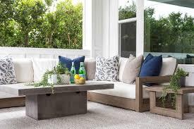 rectangular outdoor coffee table design
