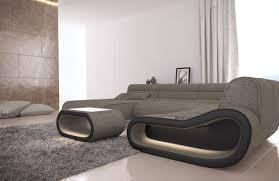 Details About Fabric Sectional Sofa Designer Couch Concept Xl Shape Recamiere Led Lights
