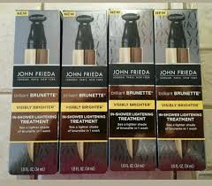 lot 4 john frieda brilliant brunette in shower lightening treatment free ship