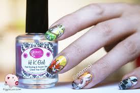 PiggieLuv: Four seasons nail art with animals