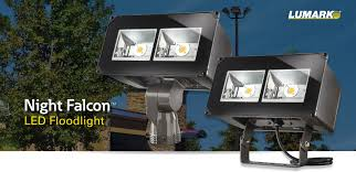 lumark night falcon led floodlight luminaire lighting story