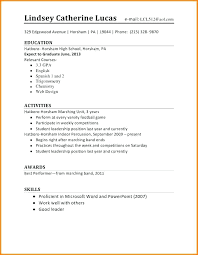 Resume Examples High School Stunning High School Resume Examples