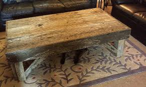 amazing rustic reclaimed wood coffee table over leafs pattern rugs added lather sofas in classic living room furniture designs