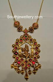Temple Jewellery Locket Designs Antique Sri Krishna Pendant Gold Jewellery Design Temple