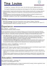 Job Resume Samples 2016 Experience Resumes