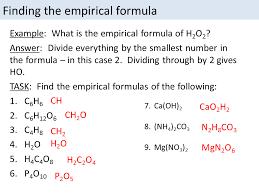 Empirical Formula And Molecular Formula Calculations Gcse 9 1