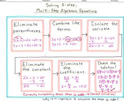 multiple step equations math solving 5 step multi step algebraic solving multi step equations math is fun
