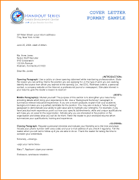 Resume Cover Letter Format Sample Free Resume Example And