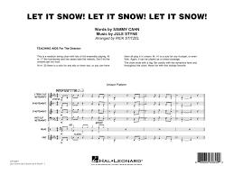 Let It Snow Let It Snow Let It Snow Score Parts Jule Styne And Sammy Cahn Arr Rick Stitzel 7013000