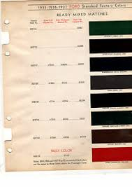 Details About 1934 1935 1936 1937 Ford 34 35 36 37 Color Paint Chips Sherwin Williams 16pc