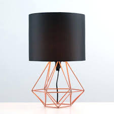 geometric table lamp industrial style geometric base table lamp with black shade antique gold open geometric table lamp