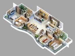 4 bedroom 1 story house plans 3d modern hd