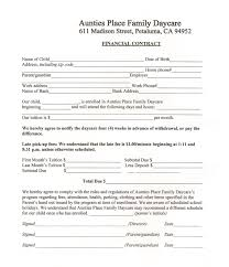 Daycare Contract Template Our Forms For A Safe Day Care Family Owned Newborn Day