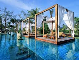 awesome best backyard swimming pool designs with floating gazebos