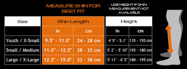 Shin Pad Size Chart Meister Elastic Cloth Shin Instep Padded Guards Pair