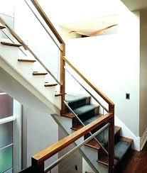glass staircase railing glass railing cost