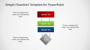 Vertical Powerpoint Flowchart Diagram Slidemodel