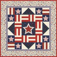 Quilt Inspiration: Free pattern day: Patriotic and flag quilts & America Lives On quilt, 48 x 56