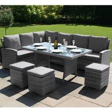 maze rattan kingston corner dining set