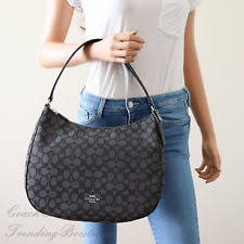 Coach F29959 Zip Shoulder Bag in Signature Jacquard Black Smoke