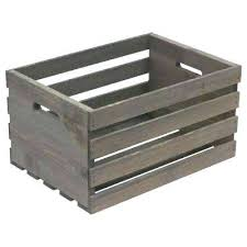wooden storage box in x in x in large crate in weathered gray wooden storage boxes wooden storage box