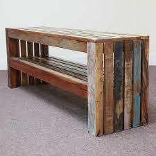 k581 indian furniture bench reclaimed shelf blue wooden 153 reclaimed