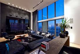 penthouse furniture. Dark Living Room In Triplex Penthouse Apartment By Pitsou Kedem Furniture E