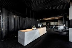 Modern office architecture design Co Office Hillam Office Reception Desk Homedit Modern Architecture Office Promotes Taskoriented Design