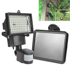 solar panel led flood security garden light pir motion sensor 60 leds path wall lamps outdoor emergency lamp