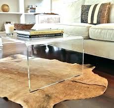 clear acrylic side table coffee table acrylic side table creative of clear coffee table acrylic coffee