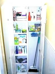 broom closet ideas storage incredible cabinet best small cupboard kitchen
