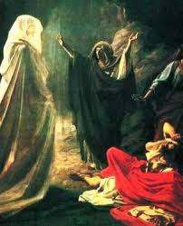 THE WITCH OF ENDOR FORETELLS KING SAUL'S DEATH