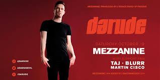 Finnish Dance Chart Darude At Mezzanine Saturday Oct 19 Guestlist Tickets