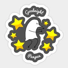 Animal puns goodnight Honey Goodnight Punpun Sticker Teepublic Goodnight Punpun Goodnight Pun Sticker Teepublic