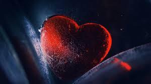 1920x1200 hd red crystal heart wallpaper for desktop