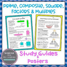 Prime Composite Square Factors And Multiples Posters And Study Guides