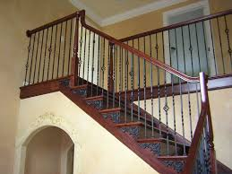 Stairs, Extraordinary Staircase Balusters Stair Spindles Home Depot Dark  Brown Staircase And Black Iron :