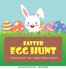 easter egg hunt template easter egg hunt invitation template design stock vector 602756909