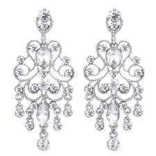 bella new vintage style chandelier dangle earrings austrian crystal bridal earrings zadrima pazar