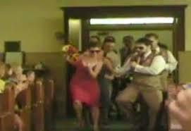 video couple's wedding entrance dance becomes youtube viral hit Wedding Dance Kevin Heinz Jill Peterson video couple's wedding entrance dance becomes youtube viral hit telegraph Jill Peterson Marina Del Rey