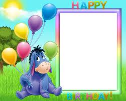 happy birthday transpa frame image free stock