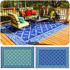 reversible patio mat outdoor rv camping picnic carpet indoor area rug cover