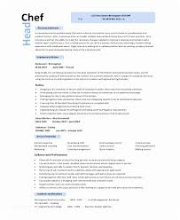 Culinary Resume Cool Culinary Resume 44 Sample Chef Resumes Ambfaizelismail