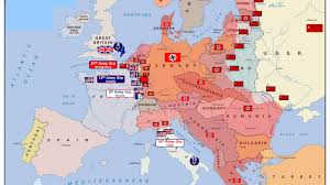 animated map of wwii in europe  youtube