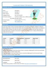 Sample Resume Fresher Format For Freshers Bcom Sampleresumefresher