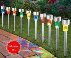 review solar power garden outdoor white led lawn spotlight landscape light lamp you