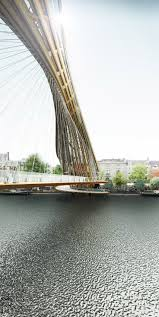 Modern wooden footbridge - Footbridge Caf/restaurant in Amsterdam