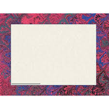 Red Marble Certificate Border Computer Paper