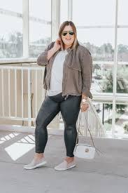 3 ways to style plus size spanx leather leggings